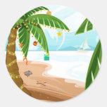 Tropical Christmas Sticker