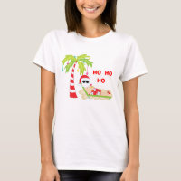 Tropical Christmas Tree Flamingo t-Shirt