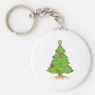 TROPICAL CHRISTMAS TREE KEY CHAIN