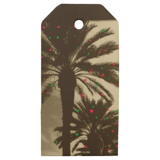 TROPICAL CHRISTMAS Wooden Gift tag