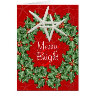 Tropical Christmas Wreath Greeting Card