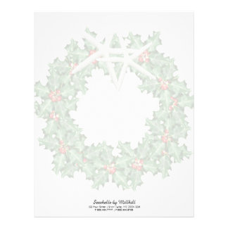 Tropical Christmas Wreath Holiday Business Paper Letterhead