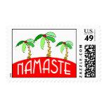 Tropical Christmas Yoga Stamps