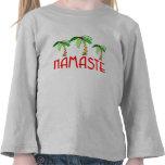Tropical Christmas Yoga Tee Shirt