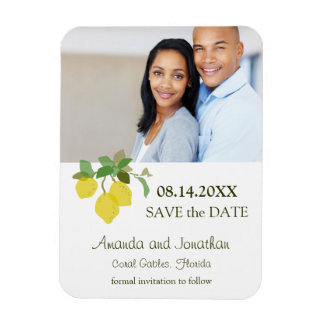 Tropical Citrus Save The Date Photo Magnet