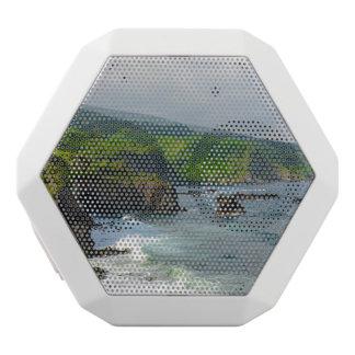 Tropical Cliffs in Maui Hawaii White Bluetooth Speaker