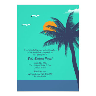 Tropical Climate Bachelor/Bachelorette Party Inv Card