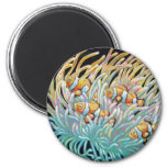 TROPICAL CLOWN FISH 2 INCH ROUND MAGNET