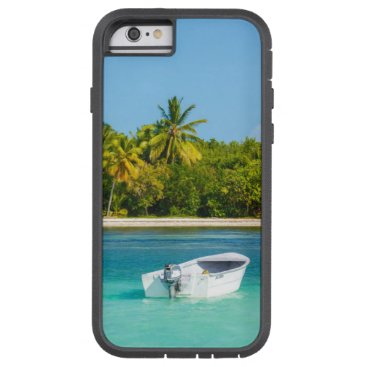 Beach Themed Tropical Coast Fishing Boat in Turquoise Water Tough Xtreme iPhone 6 Case