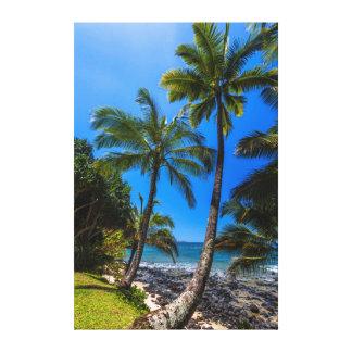 Tropical coastline 2 canvas print