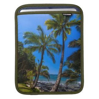 Tropical coastline 2 iPad sleeve