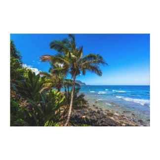 Tropical coastline canvas print