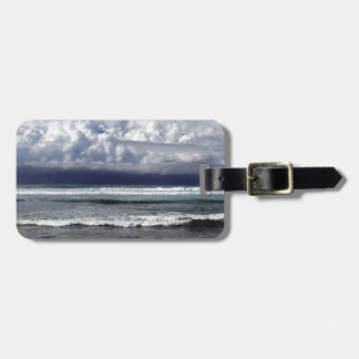 Tropical coastline monsoon storm tags for bags