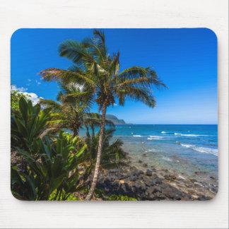 Tropical coastline mouse pad