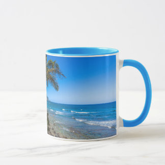 Tropical coastline mug