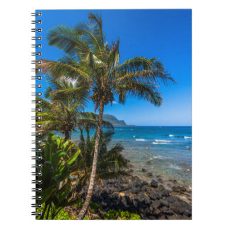 Tropical coastline notebook