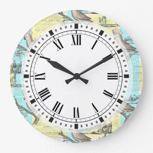 Tropical Cockatoo Dream Large Clock