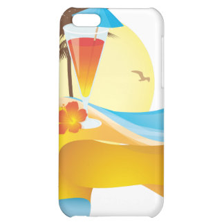 Tropical cocktail and wave iPhone 5C cover