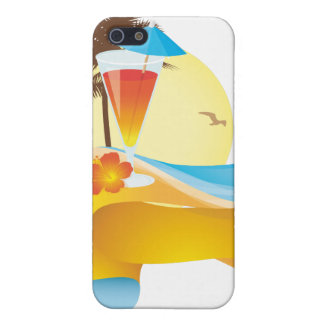 Tropical cocktail and wave iPhone SE/5/5s case