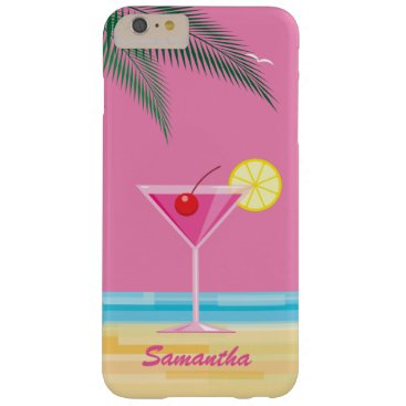 Beach Themed Tropical Cocktail & Beach iPhone 6/6s Plus - pink Barely There iPhone 6 Plus Case