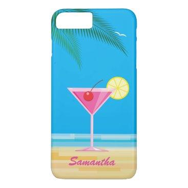 Beach Themed Tropical Cocktail & Beach iPhone 7 Plus Case