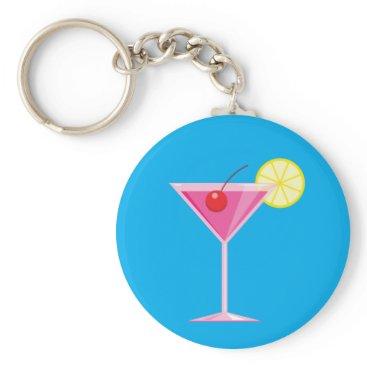 Beach Themed Tropical Cocktail Keychain