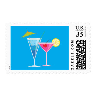 Tropical Cocktail Stamp