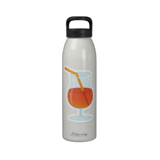 tropical Cocktail Reusable Water Bottle