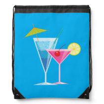 Tropical Cocktails Drawstring Backpack