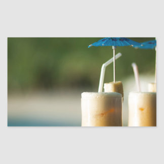 Tropical cocktails for two rectangular sticker