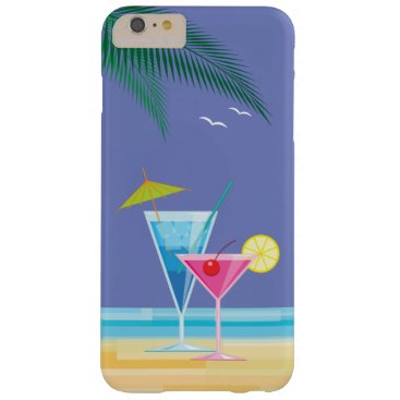 Beach Themed Tropical Cocktails iPhone 6/6s Plus Case - purple
