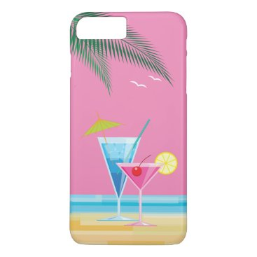 Beach Themed Tropical Cocktails iPhone 7 Plus Case