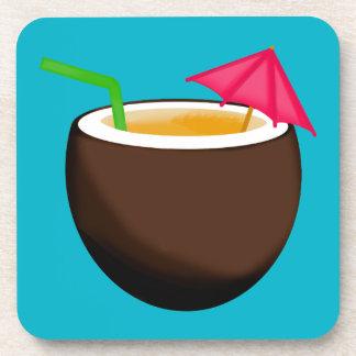 Tropical Coconut Drink Coasters