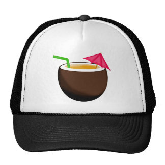Tropical Coconut Drink Hat