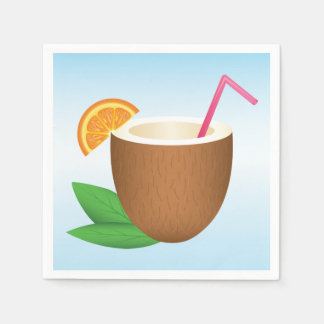 Tropical Coconut Drink Paper Napkin