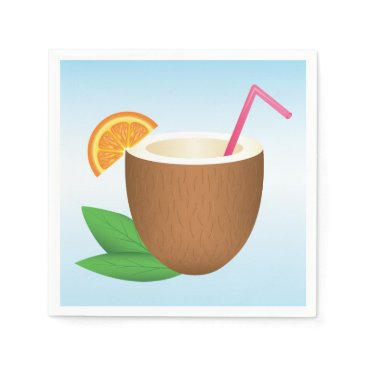 destei Tropical Coconut Drink Paper Napkin