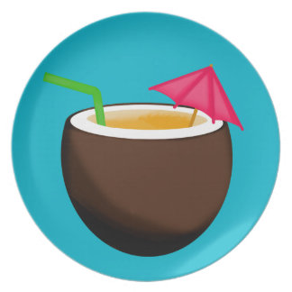 Tropical Coconut Drink Plate