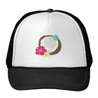 Tropical Coconut Mesh Hat