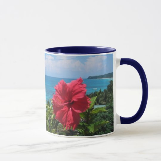 Tropical coffee cup
