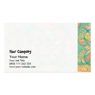 Tropical color abstract business card