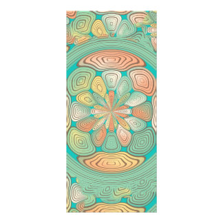 Tropical color abstract rack card