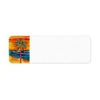 Tropical Color Return Label Return Address Label