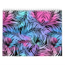 Tropical colored palms calendar