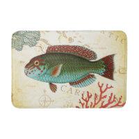 Tropical Colorful Caribbean Fish and Coral Bathroom Mat