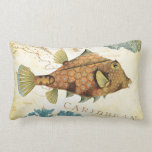 Tropical Colorful Caribbean Yellow Fish and Coral Pillow