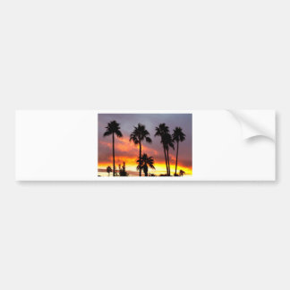 Tropical Colorful Storm Bumper Sticker