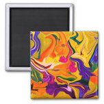 Tropical Colors abstraction art Refrigerator Magnets