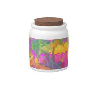 Tropical Colours Candy Jar