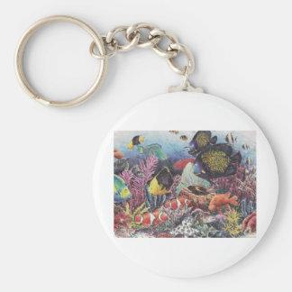 Tropical Coral Fish Dance Keychain