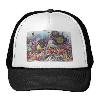 Tropical Coral Fish Dance Mesh Hats